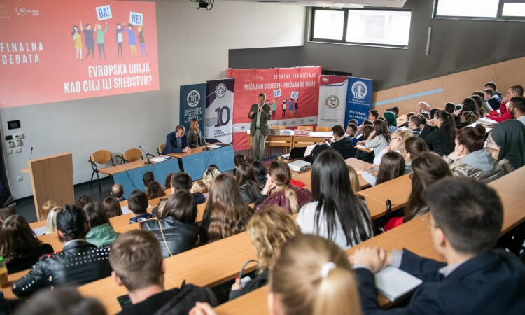 Europe Day celebration in BiH concluded with students debating about the EU