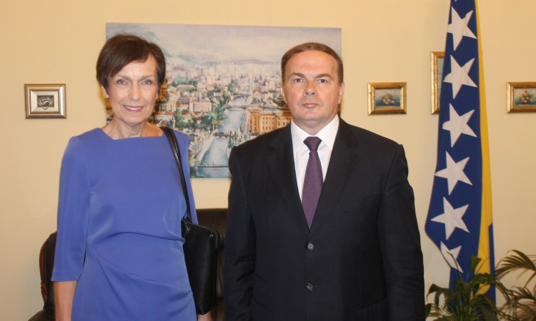 New ambassador of FR Germany to BiH Margret Uebber submits credentials