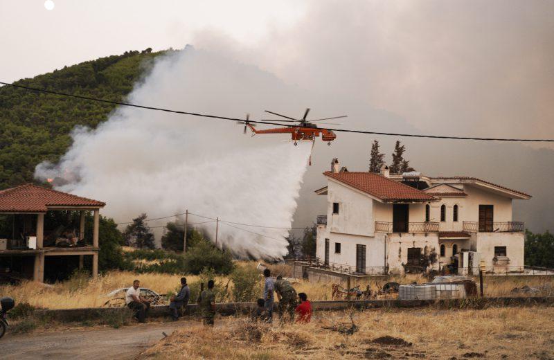 State of emergency declared on Greece's fire-stricken Evia island, 8 slightly injured