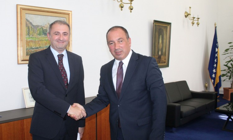Crnadak receives Ambassador of the Republic of Croatia in an inaugural visit