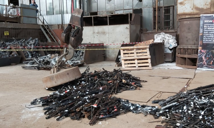 2,100 rifles and pistols destroyed in the Banja Luka Steel Smelter