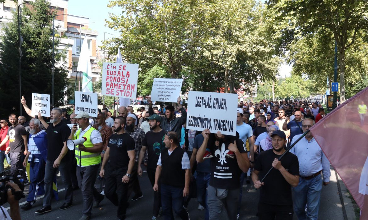 'Iskorak' Initiative holds counter-rally against the first Pride March in Sarajevo