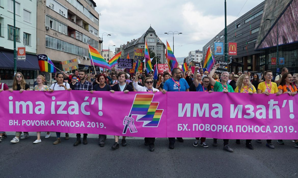 The first Bosnian Pride March in Sarajevo takes place without any incidents