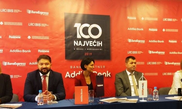 """""""100 Biggest in BiH"""" project – Recognitions to the most successful companies"""