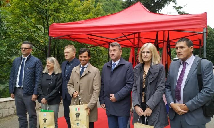Ambassadors of Austria, Italy and UNHCR plant lime trees at Sarajevo's Ambassadors' Alley