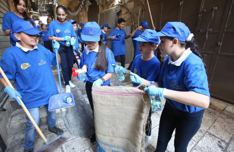 EU supports hundreds of Palestinian children in joining World Clean-up Day