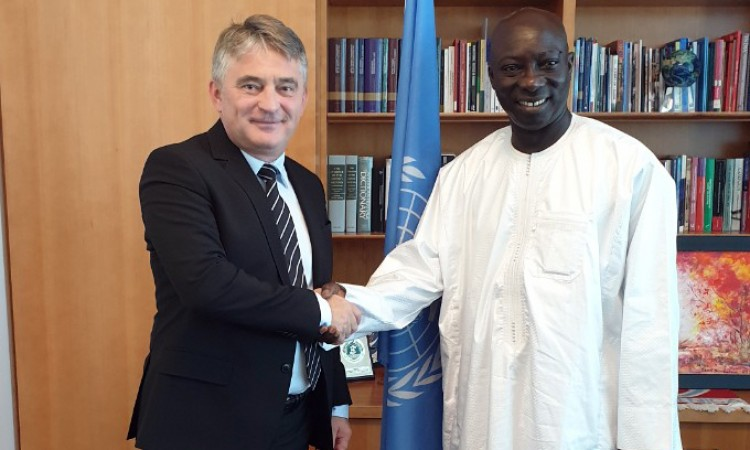Komšić and Dieng discuss the importance of the genocide prevention project