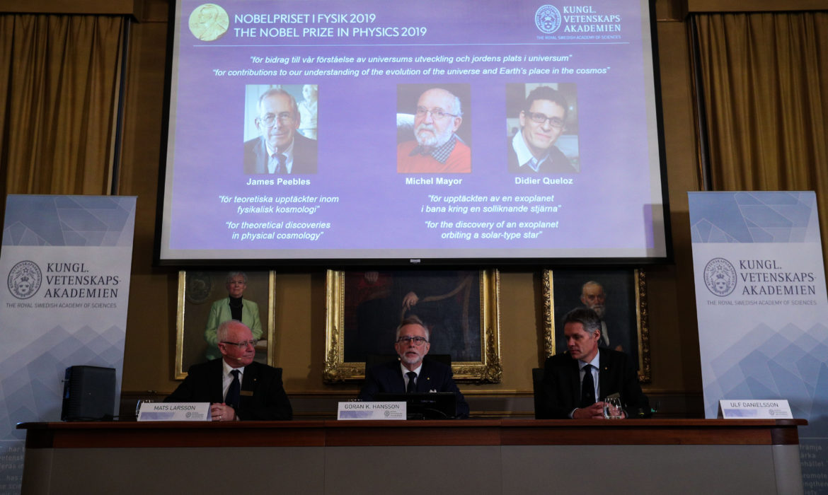3 scientists share 2019 Nobel Prize in Physics