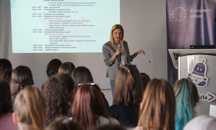 Young women from all across BiH present digital solutions to local problems