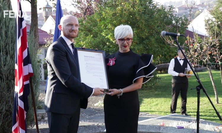 Ediba Bakira Trbonja-Kapić receives Most Excellent Order of the British Empire