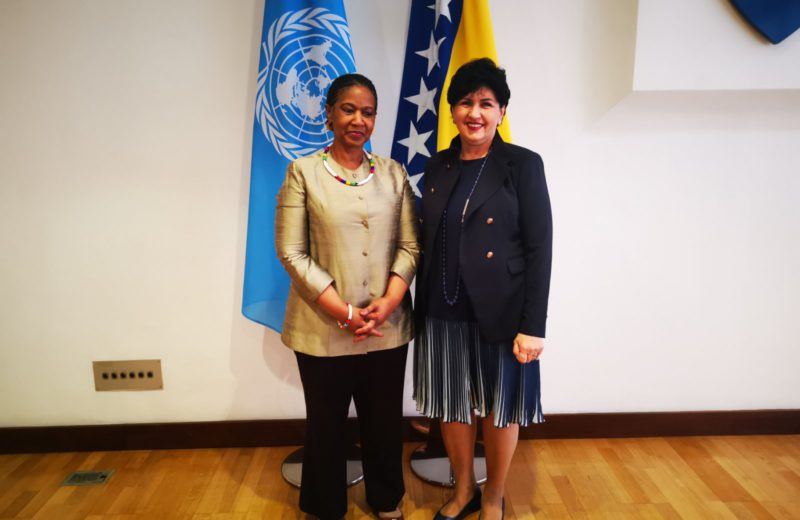 Borovac meets with UN Under-Secretary-General Mlambo-Ngcuka
