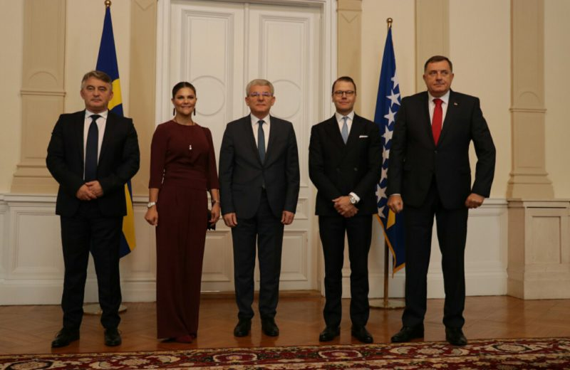Presidency members meet with Crown Princess Victoria and Prince Daniel of Sweden