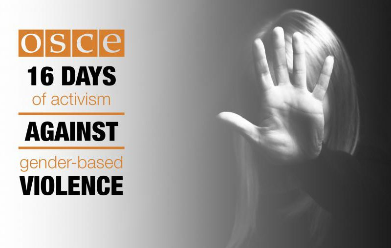 OSCE joins the 16 Days of Activism campaign – End the Silence