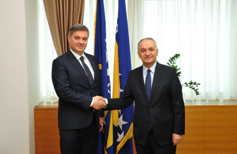 Zvizdić receives non-resident Ambassador of Albania in an inaugural visit
