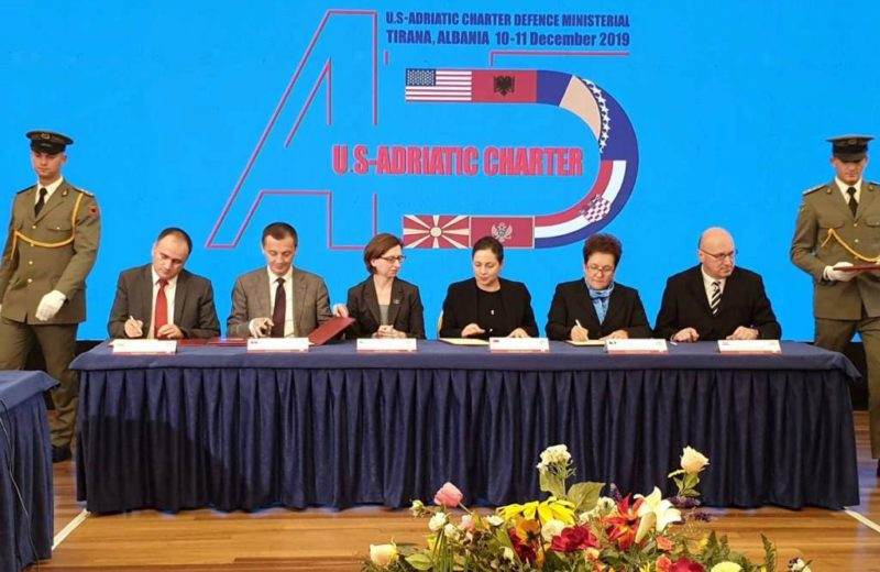 Pendeš attends ministerial meeting of US-Adriatic Charter members in Tirana