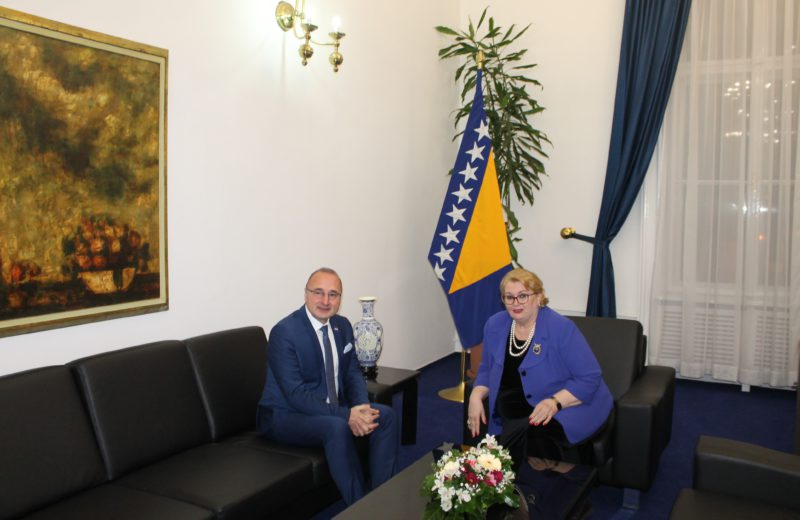 Turković-Grlić Radman: Develop good neighborly relations between BiH and Croatia