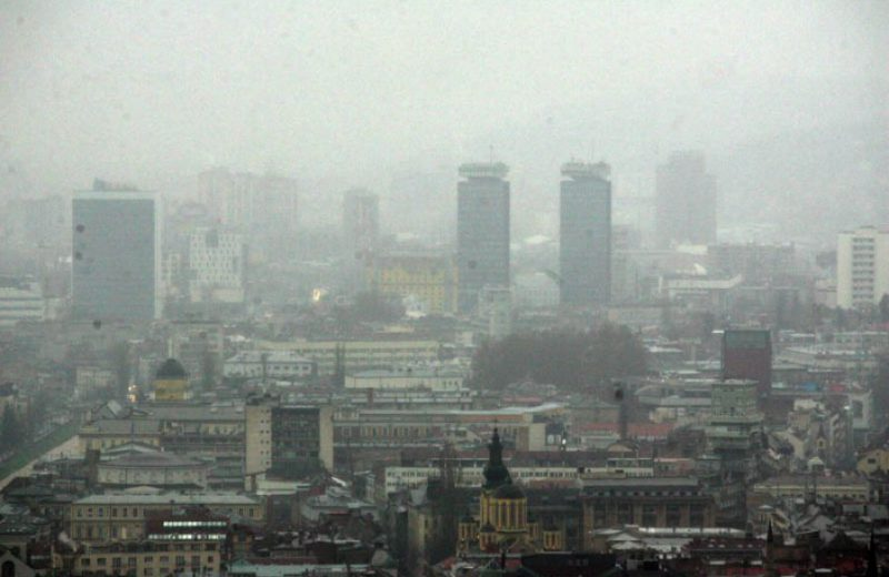 Air pollution in Sarajevo on the rise again in the evening hours