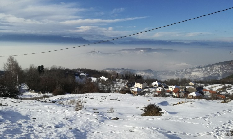 A view of the Sarajevo smog captured from the surrounding hills