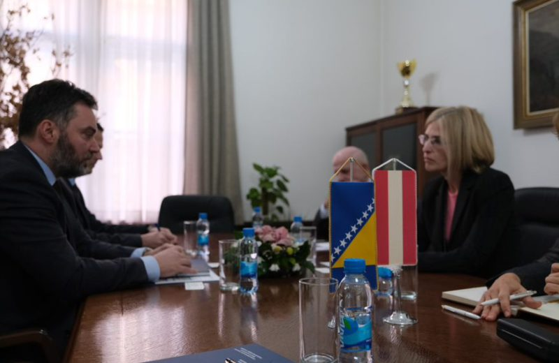 Košarac and Ambassador Hartman discuss cooperation between BiH and Austria