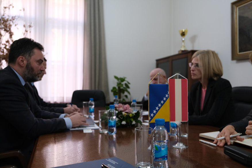 Košarac and Ambassador Hartman discuss cooperation between BiH and Austria