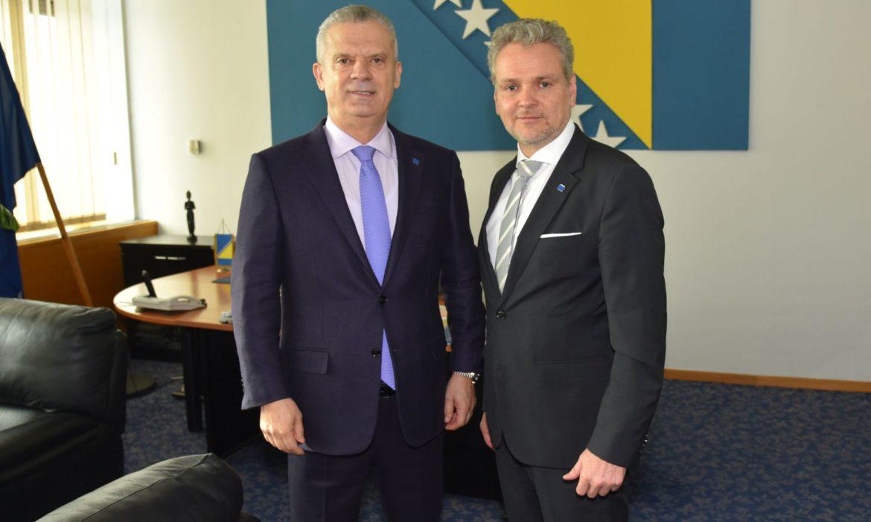 Radončić and Sattler discuss managing migrant situation in BiH
