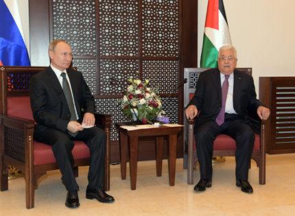 Abbas receives Putin in Bethlehem
