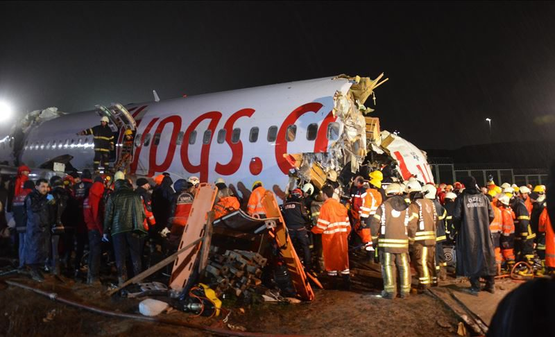 Plane skids off runway at airport in Istanbul, three dead, 180 injured