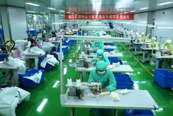 Production of medical, daily necessities recovering steadily in China