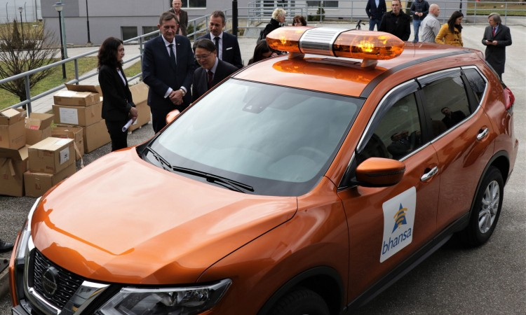 Government of Japan donates specialized vehicle to BHANSA