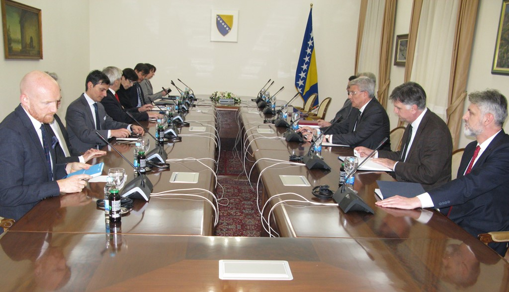 Džaferovicć meets with Quint Ambassadors and Sattler on decisions of BiH CC