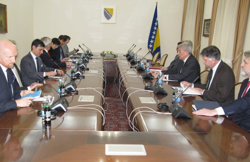 Džaferović meets with Quint Ambassadors and Sattler on decisions of BiH CC