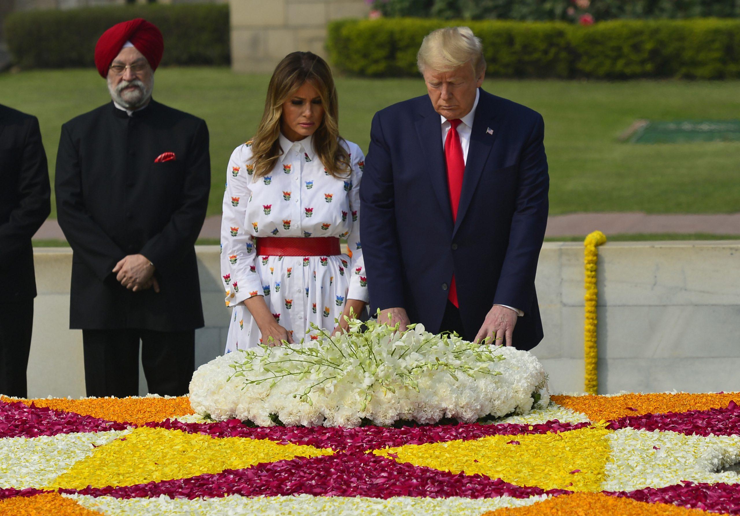 Trump, Melania pay homage to Mahatma Gandhi at Rajghat