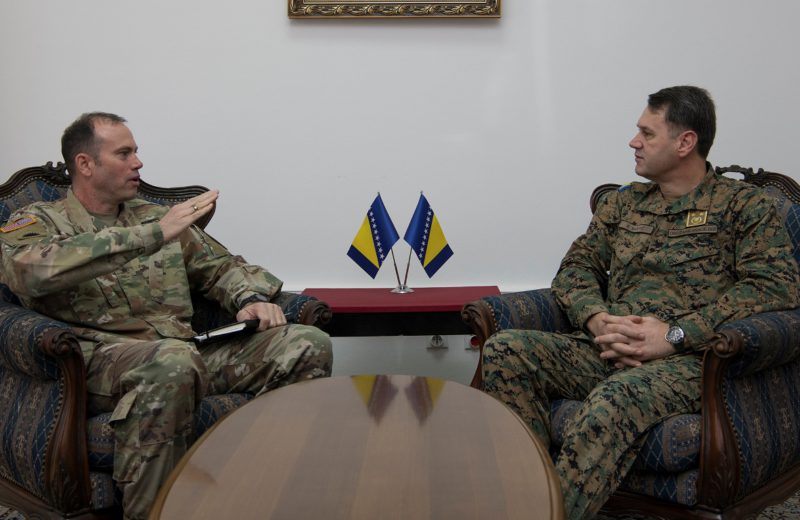 NATO HQ Sarajevo Commander Edwards meets with Chief of AFBiH Joint Staff Mašović