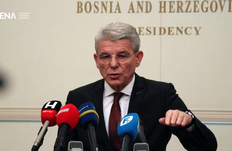 Šefik Džaferović takes over duty of Chairman of BiH Presidency as of tomorrow