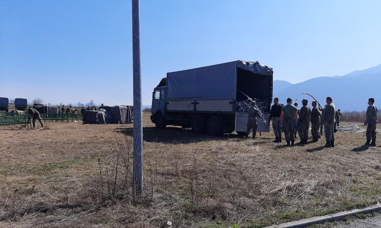 Erection of isolation tents at Izačić border crossing near Bihać begins
