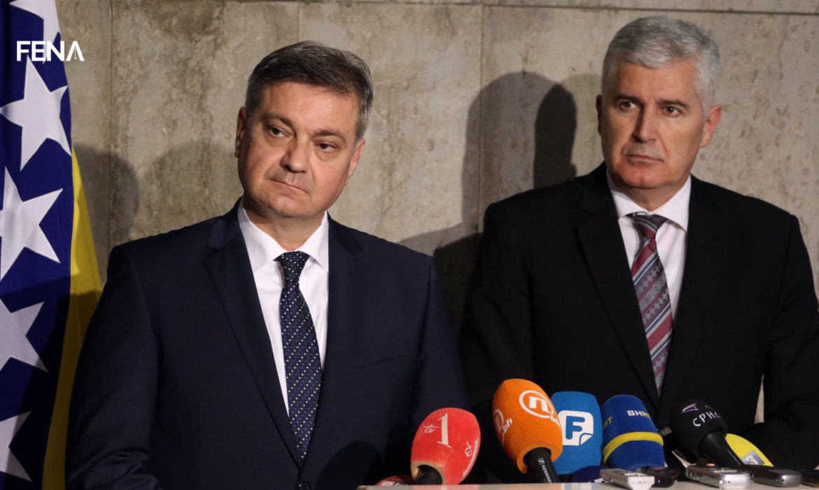 Zvizdić and Čović appeal to EU leaders to help the Western Balkans