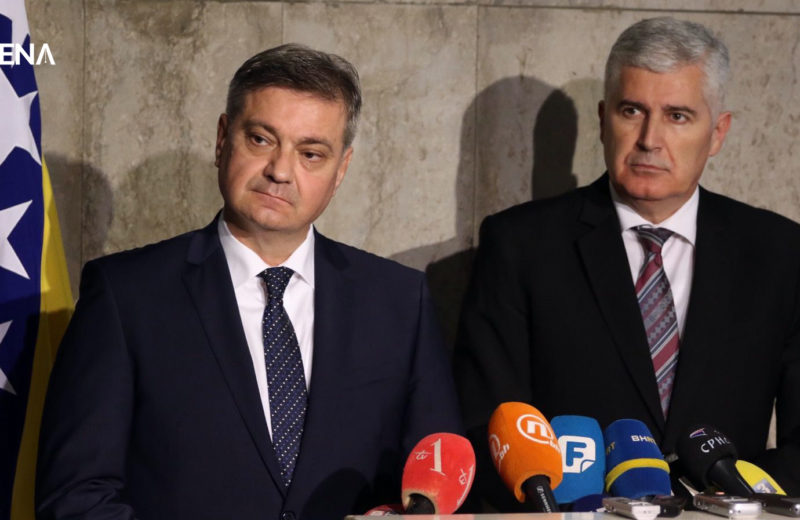 Zvizdić and Čović appeal to EU leaders to help the Western Balkans