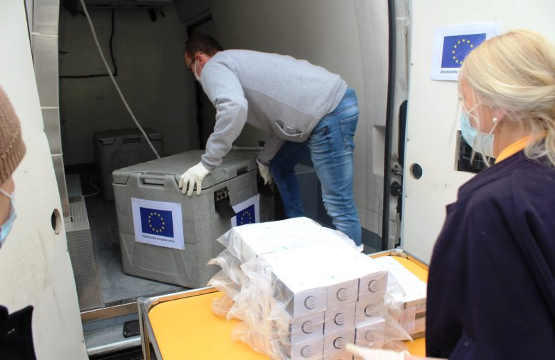 Sattler: ​The first EU-funded COVID-19 test kits delivered today