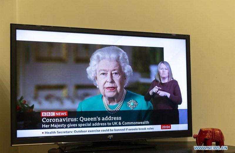British Queen makes rare speech to lift nation's spirits amid coronavirus pandemic