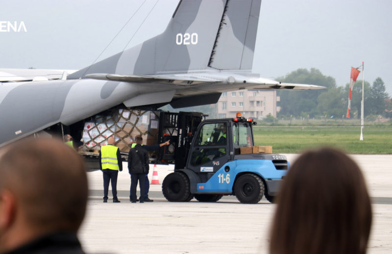 The first shipment of Polish assistance in fight against pandemic arrives in BiH