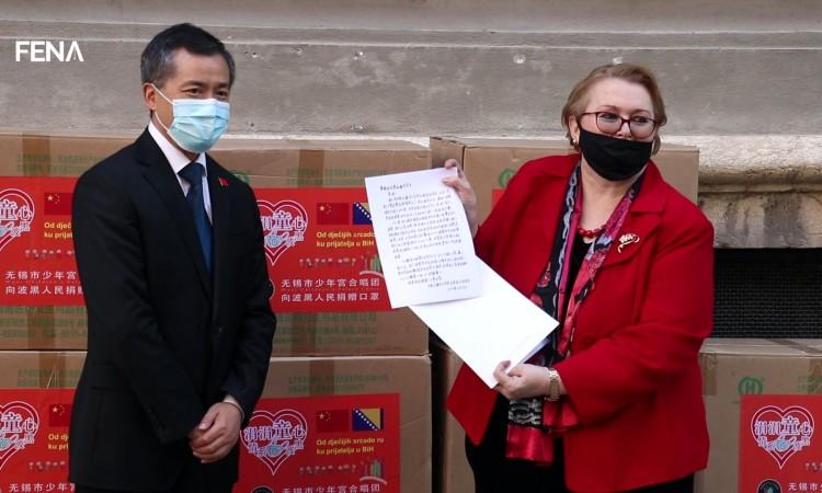 Children from China send protective masks to children in Sarajevo