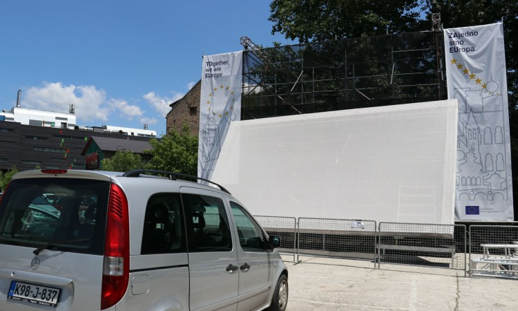 Opening of the first drive-in cinema in Sarajevo tonight