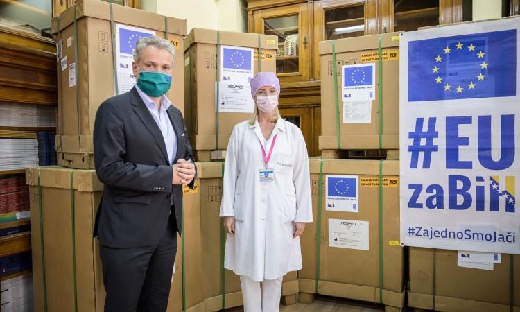 EU Ambassador Sattler delivers EU medical assistance to KCUS