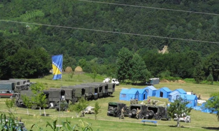 BiH Armed Forces engaged with their resources in the Srebrenica area