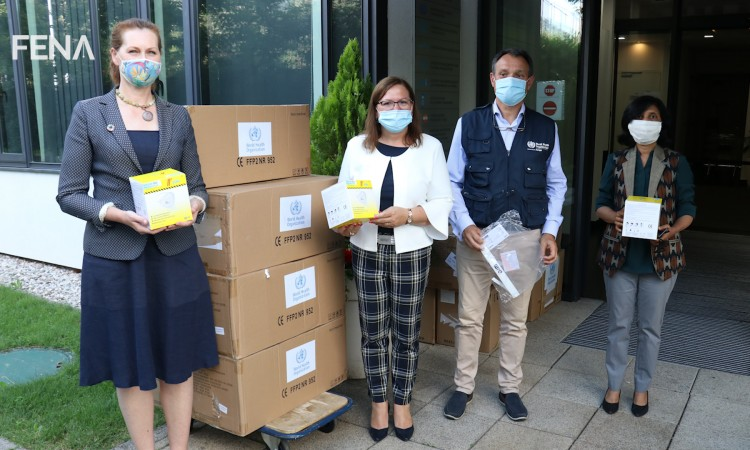 WHO Regional Office hands over a new donation of protective medical equipment to BiH