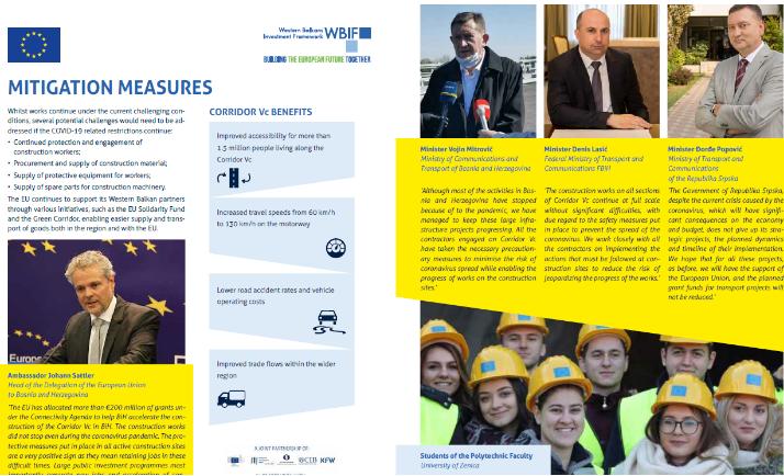 EU secures a grant of EUR 11.8 million for the Tarčin-Ivan section on Corridor Vc
