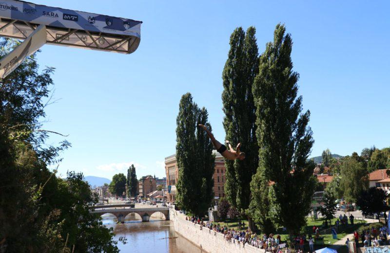 'Bentbaša Cliff Diving 2020' competition held in Sarajevo