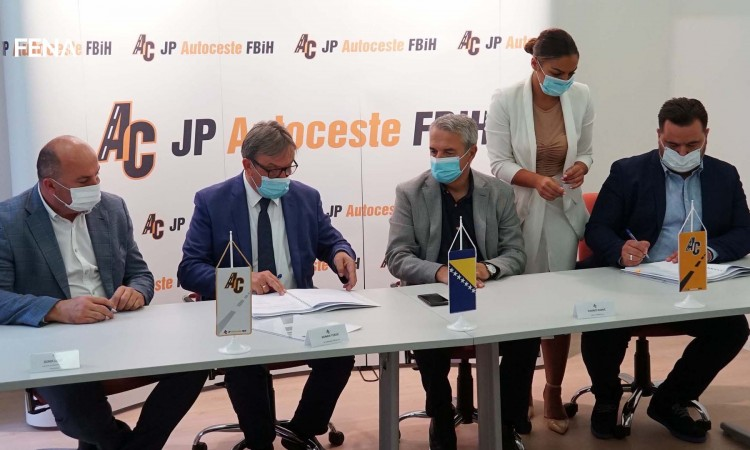 Construction contract for Tarčin-Konjic motorway section signed today
