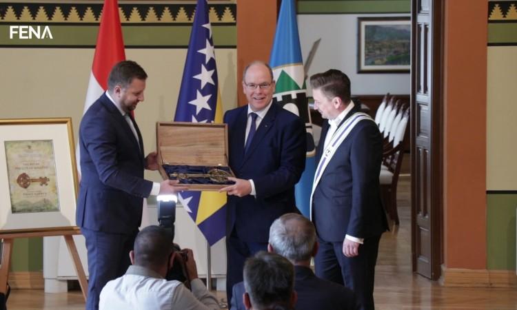 Prince Albert II of Monaco receives 'Key to the City of Sarajevo'