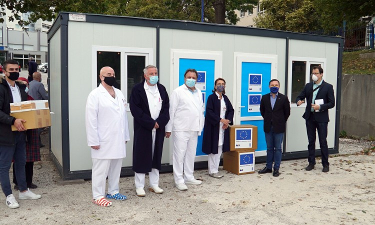 EU donates equipment to KCUS as part of assistance to fight COVID-19 pandemic